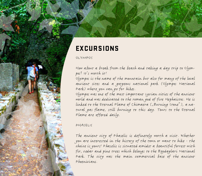 Excursions: Olympos, Phaselis